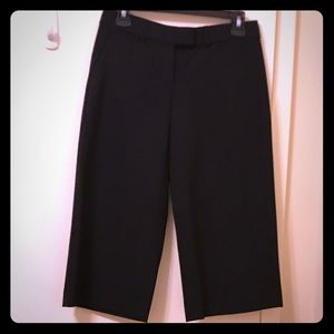 Theory Wool Wide Leg Cropped Dress Pants